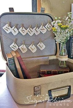 Sugar Blossom Events | Event Stylist in Sydney | rustic wedding | vintage suitcase wishing well