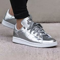 adidas stans smith silver