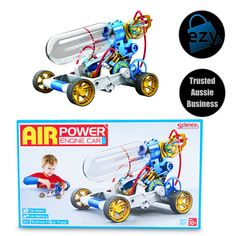Air Power Engine Car 🚗 Toys Online, Kit Cars, Tricycle, Baby Strollers, Engineering, Children, Baby Prams, Young Children, Boys