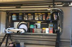 Land Rover Defender  Day pantry Defender Camper, Land Rover Defender, Camp Kitchen Box, Truck Bed Camping, Chuck Box, Camper Storage, Suzuki Jimny, Canopy Design, Camping Ideas