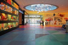 Lobby lighting at Disney's Art of Animation Resort