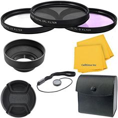 Amazon.com : 77mm Professional Deluxe 6pc Filter and Accessory Bundle Kit for Sony SAL-2470Z 24-70mm f/2.8 Carl Zeiss Vario-Sonnar T* AF, Sony SAL-70200G Zoom AF 70-200mm f/2.8 APO G(D) SSM, Tamron 70-200mm f/2.8 Di LD (IF) and Tokina 11-16mm f/2.8 AT-X 116 Pro DX & DX-II Lenses + CT Microfiber Cleaning Cloth : Electronics; See This Camera Item & Many More Cameras @  dlsrcamerasandspecialeffectsphotography.com/