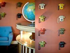 Decorar paredes con teléfonos | Decoración Hogar, Ideas y Cosas Bonitas para Decorar el Hogar