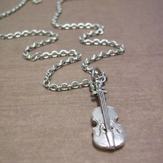 Violin Charm Necklace