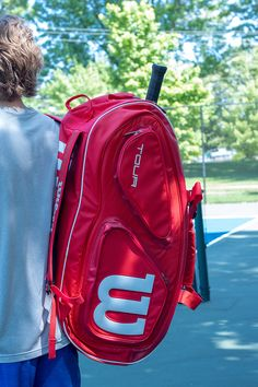 WILSON SPORTS offers a variety of tennis bags, including and bags, as well as duffle bags and tennis backpacks -- Shop now! Wilson Tennis Bags, Wilson Tennis Racquets, Tennis Gear, Tennis Clubs, Wilson Sport, Tennis Lessons, Small Backpack, Workout Challenge, Golf Bags