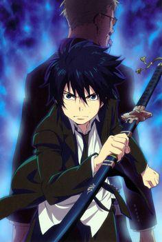 Ao no Exorcist/ Ao no Futsumashi/ Blue Exorcist/ 青の祓魔師 Ao No Exorcist, Blue Exorcist Anime, Otaku Anime, Anime Guys, Manga Anime, Anime Art, Rin Okumura, Mephisto, Shiro