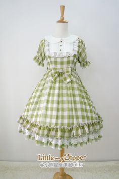 Little Dipper -Sweet Summer Dream- Gingham Chiffon Lolita OP Dress