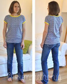 Designbeispiel Damen-Shirt Rom (Gr. 34-46) | Papierschnitt