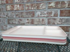 Set of 5 Tupperware Trays - Cream & Shades of Pink / Dusty Rose  - Set of 5 - Used Trays - Great for Kids / Picnics / Parties / Daycares by RetroRetake on Etsy