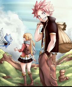 The original gang (Natsu, Lucy and Happy) going on an adventure [Fairy Tail] – My CMS Fairy Tail Lucy, Fairy Tail Amour, Art Fairy Tail, Fairy Tail Quotes, Image Fairy Tail, Fairy Tail Natsu And Lucy, Fairy Tail Guild, Fairy Tail Ships, Fairy Tail Anime