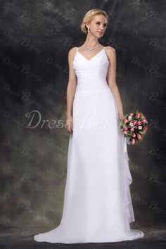 Pretty A-Line Straps Floor-length Court Nastye's Wedding Dress