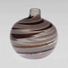Carlo Scarpa: Pennellate vase for Venini. Italy, 1942  Iridized glass  4.5 dia x 5 h inches.
