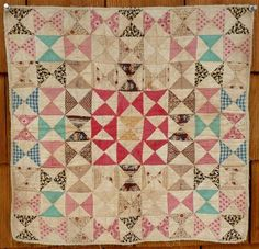 Antique Doll Quilt First Half of 19th Century Nice   eBay 15x15