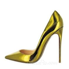 Shoespie Golden OL Style Stiletto Heels From The Plus Size Fashion Community At www.VintageAndCurvy.com