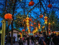October Halloween at Tivoli Gardens entrance at night in Copenhagen Denmark | Flickr - Photo Sharing!
