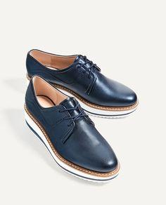 Plattform Oxford shoes. SS Trends 2017