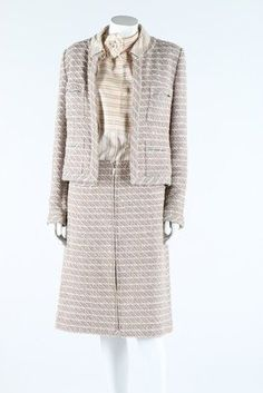 A Chanel Tweed Suit, 2003, Labelled And Size 42 To