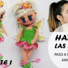 Muñeca amigurumi Hada de las flores Crochet Doll Pattern, Crochet Dolls, Crochet Patterns, Crochet Hats, Snoopy Amigurumi, Amigurumi Doll, Patron Crochet, Amigurumi Tutorial, Free Pattern