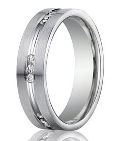 Beautiful!! Love this for my husband. Elegant and stylish   Designer 950 Platinum Channel Set Diamond Mens Wedding Ring | 6mm