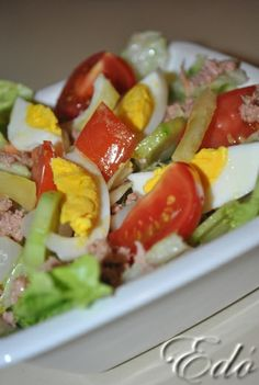 Tonhalas saláta Salad Recipes, Healthy Recipes, Eat Pray Love, Yummy Food, Tasty, Cobb Salad, Nutella, Sushi, Paleo
