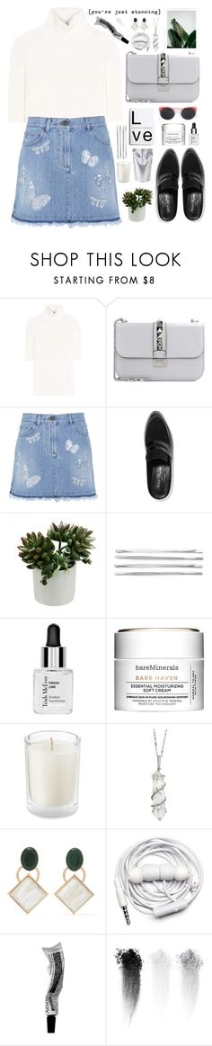"""Sin título #2628"" by liliblue ❤ liked on Polyvore featuring Valentino, Robert Clergerie, Cara, Trish McEvoy, Bare Escentuals, Sharon Khazzam, Marni, Urbanears, NARS Cosmetics and RetroSuperFuture"