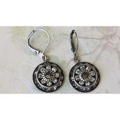 Crystal Rhinestone Earrings, Black Diamond Rhinestone Earrings,... ❤ liked on Polyvore featuring jewelry and earrings
