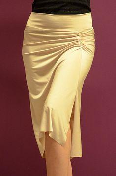 Beige Jersey Skirt