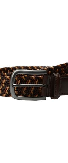 Torino Leather Co. 35mm Italian Mini Strand Woven Stretch Leather (Brown/Tan/Cognac) Men's Belts - Torino Leather Co., 35mm Italian Mini Strand Woven Stretch Leather, 54107-901, Apparel Bottom Belts, Belts, Bottom, Apparel, Clothes Clothing, Gift - Outfit Ideas And Street Style 2017