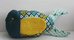 Fast Floppy Finned Fat Quarter Fish | AllFreeSewing.com