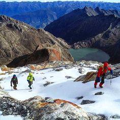 Comenzando a subir el Glaciar la Corona del Pico Humboldt de la Sierra Nevada de Mérida. Venezuela