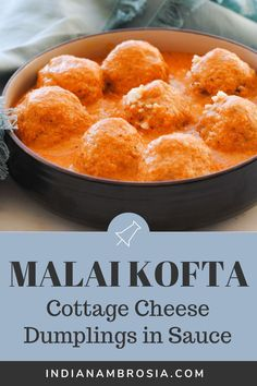 Malai kofta is a vegetarian delight made of paneer and potato balls in a rich tomato gravy. Smooth, creamy, and oh so delicous! Indian Potato Recipes, Indian Paneer Recipes, Indian Food Recipes, Kofta Recipe Vegetarian, Vegetarian Recipes, Healthy Recipes, Paneer Cheese, Tomato Gravy, Indian Dishes