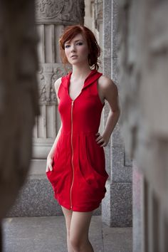 RED-Marie Claire Dress- As seen on Project Runway- 4 colors available. $152.00, via Etsy.