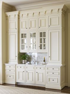 Astonishing Built Kitchen Pantry Design Ideas 14 There are two very important options that should be considered in every large kitchen pantry cabinet design. Kitchen Pantry Design, Kitchen Pantry Cabinets, Kitchen Cabinet Colors, Painting Kitchen Cabinets, Kitchen Styling, Glass Cabinets, Kitchen Tiles, Kitchen Organization, Kitchen Storage
