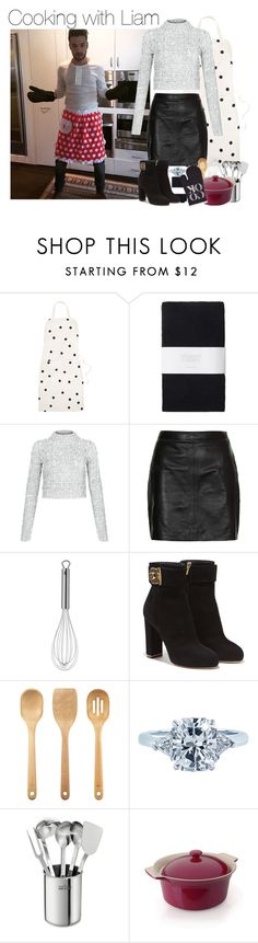 """Cooking at Liam's House#G"" by ghizlanewilde ❤ liked on Polyvore featuring Kate Spade, Toast, Cameo Rose, Topshop, WMF, Salvatore Ferragamo, OXO, Tiffany & Co., All-Clad and BergHOFF"
