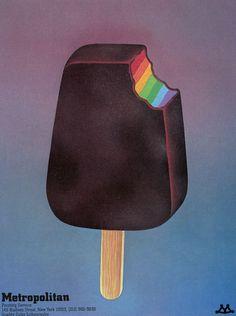 Metropolitan Printing in Push Pin Graphic ice cream  retro vintage graphic illustration