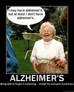 Alzheimer's disease is marked by an inability to recall certain memories, but new research shows that patients diagnosed with the conditio. Funny Emails, Funny Jokes, Memes Humor, Lol, Inspirational Posters, I Love To Laugh, Alzheimers, Just For Laughs, Getting Old
