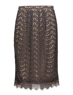 DAY - Day Lavanny Concealed back zip closure Crochet lace overlay Fringe detail Inner lining Pencil shape Elegant and feminine Refined Lace Overlay, Crochet Lace, Sequin Skirt, Pencil, Feminine, Closure, Shape, Zip, Elegant