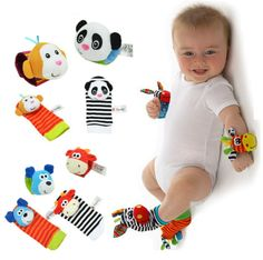 Baby Rattle Wrist Foot Finder Baby Boys, Girls Toy