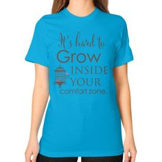 Femspirational Quote Art - It's Hard to Grow - American Apparel T-Shirt