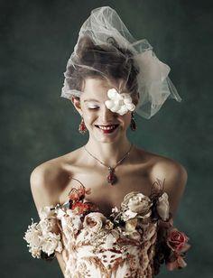 Marylou Moll in Vogue Italia Sposa January 2017 by Kiki Xue