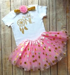 wild one first birthday outfit girls wild one birthday outfit girls first birthday outfit pink and gold first birthday outfit tutu outfit by QueenBeeBoutique127 on Etsy