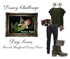 """""""Disney Challenge ;; Day Seven ;; Favorite Unofficial Disney Prince ;; Peter Pan"""" by thevillainesswildcard ❤ liked on Polyvore featuring art"""