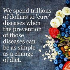 Chronic diseases are responsible for 7 of 10 deaths each year, and treating people with chronic diseases accounts for 86% of our nation's health care costs. Go #plantbased Source: http://www.cdc.gov/chronicdisease/index.htm