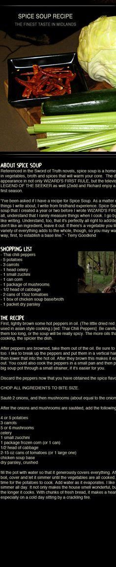 Spice soup recipe inspiration.
