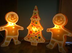 Gingerbread Blow Molds Decorating With Christmas Lights, Christmas Decorations, Christmas Ornaments, Holiday Decor, Old Christmas, Vintage Christmas, Xmas, Gingerbread House Parties, Gingerbread Man