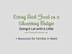 Eating Real Food on a Shoestring Budget via #conveyawareness and other bloggers who shared their accessible meals content.
