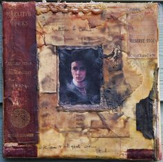 'The Book of Souls'. Encaustic collage by Jo Archer.