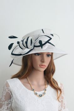 New Woman Church Kentucky Derby Wedding Sinamay Dress Hat YM009 White US   29.99 Fascinator Hats 56bef7da4db