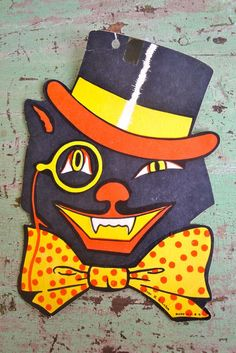 Vintage Halloween Beistle Luhrs Cat by VintageJunkInMyTrunk, $20.00