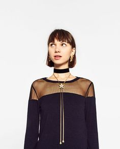 Image 4 of CHOKER AND LONG NECKLACE WITH STAR PACK from Zara